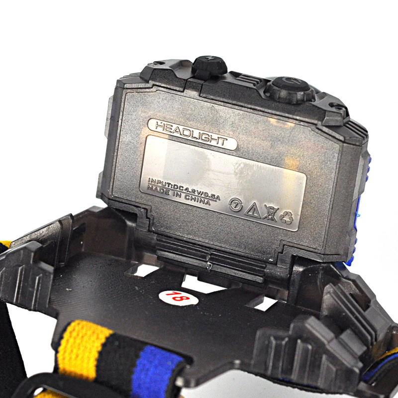 1117 LED Headlamp High Power 1000LM Q5 Headlight 4-Mode Zoom Head Torch
