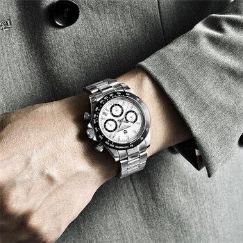 2021 New PAGANI Design Top Brand Men's Sports Quartz Watches Sapphire Stainless Steel Waterproof Chronograph Luxury Reloj Hombre 6
