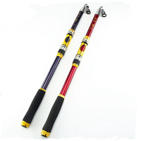 80%FRP+20%Carbon 2.1M 2.4M 2.7M 3.0M 3.6M Portable Telescopic Fishing Rod Spinning Fish Hand Fishing Tackle Sea Rod Ocean Rod
