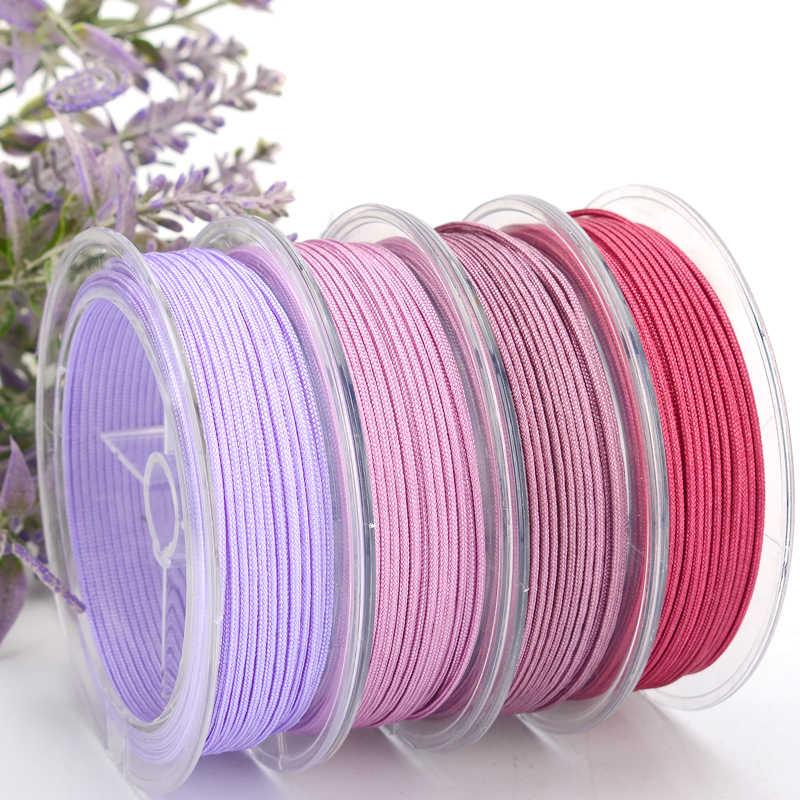 Cuerda OAR de 1,5mm, cordón brillante de Jade de Línea B, cordón trenzado, collar de línea de Buda, cordón Bodhisattva