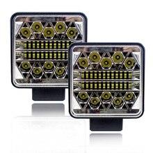 Araba Led ışık Bar 12V 24V 102W Çalışma Işığı Traktörler için Far Led Offroad Aksesuarları Gündüz Farları otomatik led rampa