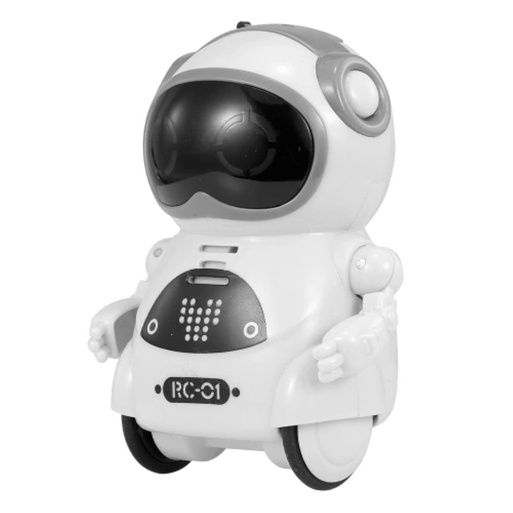 1pcs Intelligent Mini Pocket Robot Walk Music Dance Toy Light Voice Recognition Conversation Repeat Smart Interactive Kids Gift