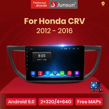 Junsun 9.0 4G Auto Mobil Radio Central Multimidia Audio Player Gps Navigasi 2 DIN untuk Honda CRV 2012 2013 2014 2015 2016(China)