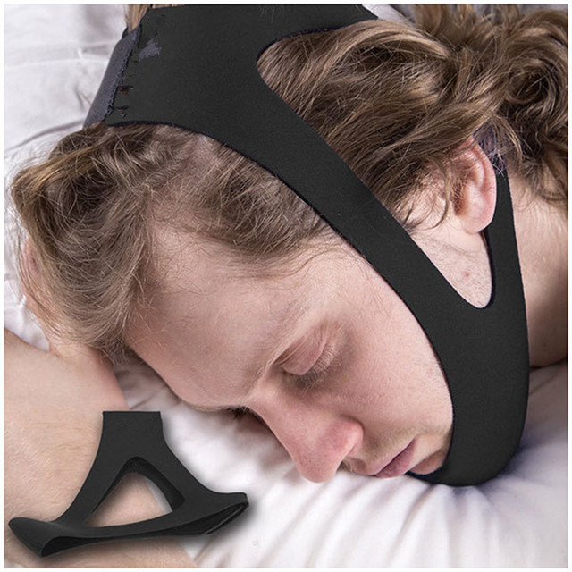 Anti Snore Chin Strap Stop Snoring Snore Belt Sleep Apnea Chin Support Straps for Woman Man Night Sleeping Snore Stopper Bandage 4