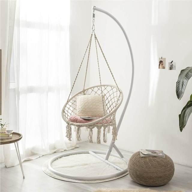 Round Hammock Chair Outdoor Indoor Dormitory Bedroom Yard For Child Adult Swinging Hanging Single Safety Chair Hammock 1