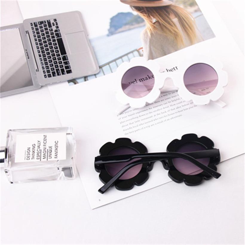 XojoX Cute Round Lace Plastic Frame Sunglasses For Kids Fashion Elegant Girls Wild Outdoor Sun Glasses