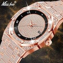 Часы missfox Мужские кварцевые модные роскошные полностью из