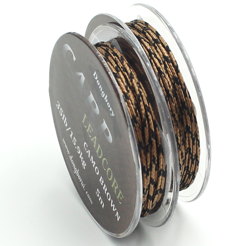 5m Braided Lead Core Carp Leader Line Camo Brown Mainline Leadcore For Carp Rig Chod Helicopter Rig Carp Coarse Fishing Line