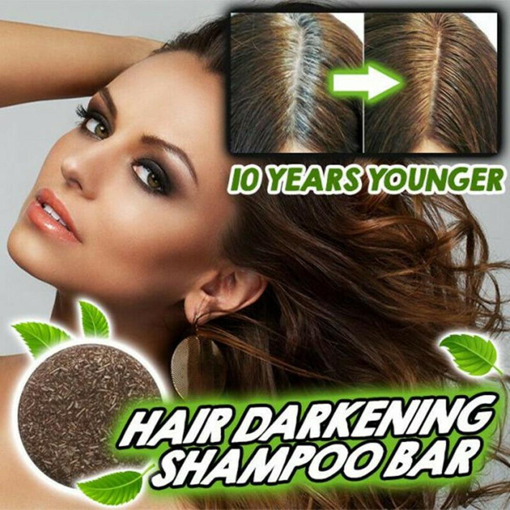 2020 Gray Hair Reverse Hair Darkening Shampoo Bar Polygonum Essence Soap Hair Shampoo Natural Mild Formula Hair Cleansing Care 1