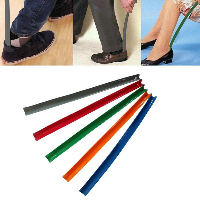 1Pcs Shoehorn Durable Long Handle Shoe Horn Easy Shoe Horn For Mulitifunction Plastic Shoe Spoon 4 Color For Choose