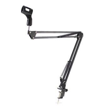 Microphone Scissor Arm Stand Desktop Mic Clip Holder Tripod Live Cantilever Bracket Microphone Bracket dropshippingExtendable 1