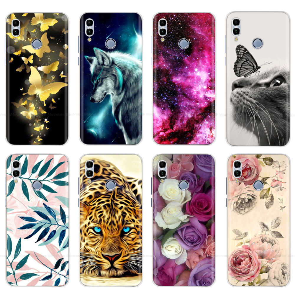 Print Silicon Case For Coque Huawei P Smart 2018 FIG LX1 5.65