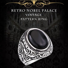 BEIER 2017 Natural Oval Opal Green Stone Ring Stainless Steel Vintage Nobel Palace Ring For Woman Man Europe BR8-186(China)