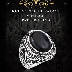 BEIER Stone-Ring Jewelry Palace-Product Opal Oval Nobel Stainless-Steel Vintage Natural