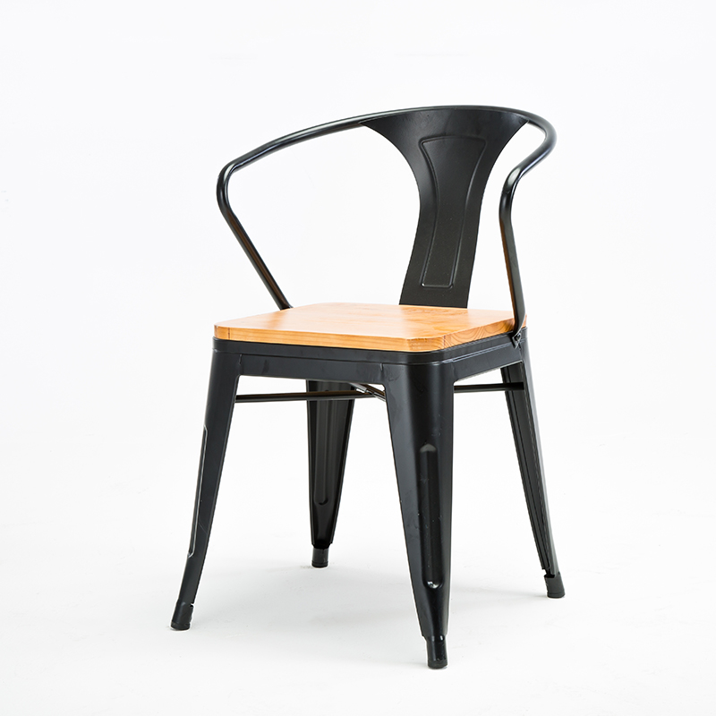 LOFT Industrial Wind Wrought Iron Chair Solid Wood Dining Chair Lounge Chair Chair Cafe Restaurant Stool Table And Chair