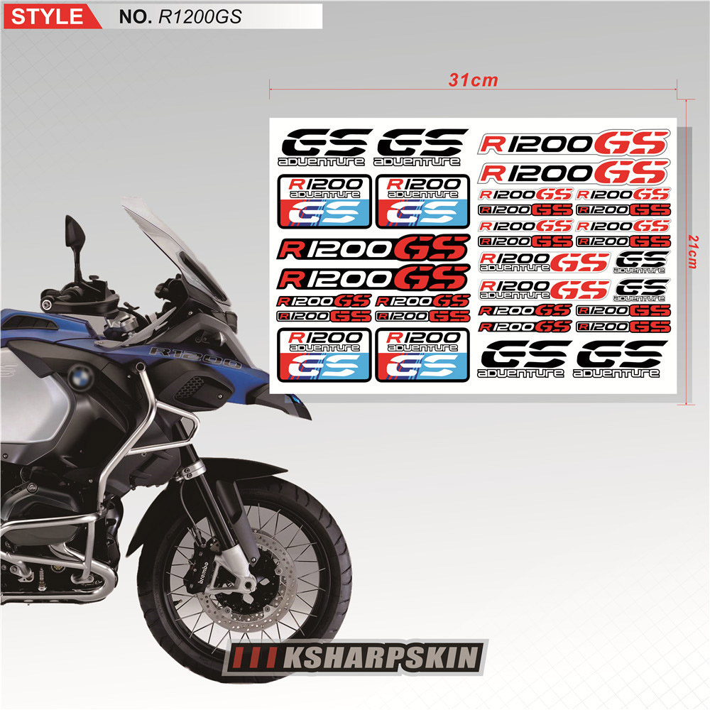 Sticker Set Seite Tank Motorrad BMW R 1200 GS LC Streifen Racing ...
