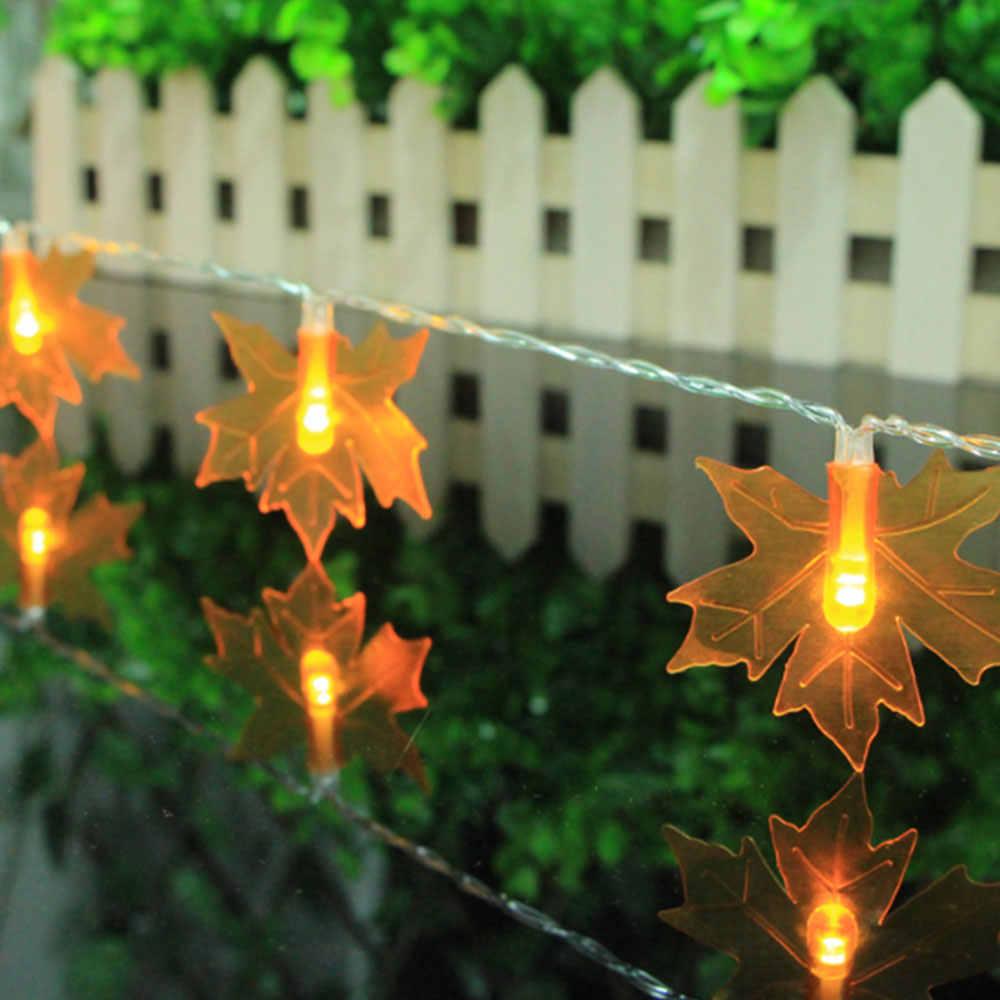 Fata Luci Stringa di Luce Foglie di Acero Spina di UE di Caduta di Autunno di Illuminazione di Festa Di Natale Della Decorazione Della Casa Giardino Outdoor Cortile Moderno