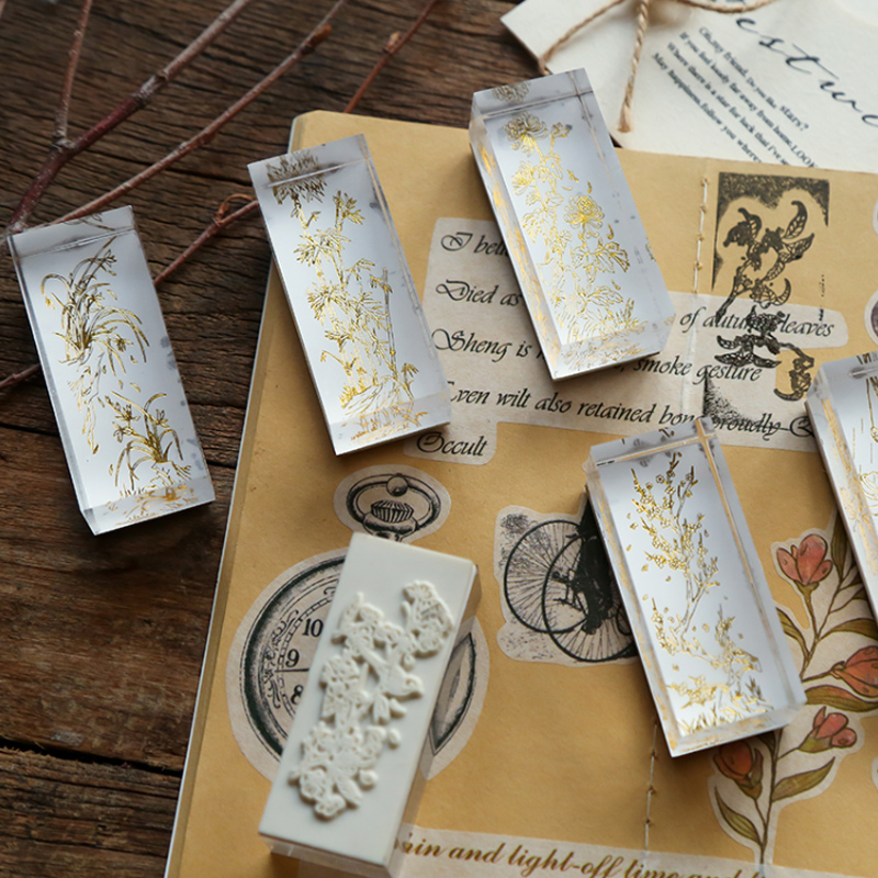 Acrylic Crystal Transparent Plants Stamp DIY  Rubber Stamps For Scrapbooking Stationery Standard Stamp