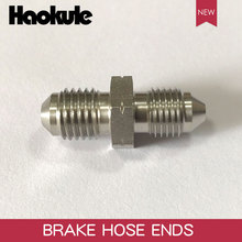 HAOKULE MALE FLARE UNION AN3 3/8x24 UNF to M10x1.25 / M10x1.5 / M10x1.0 Male Bubble Flare Stainless Steel Brake Fittings Adapter