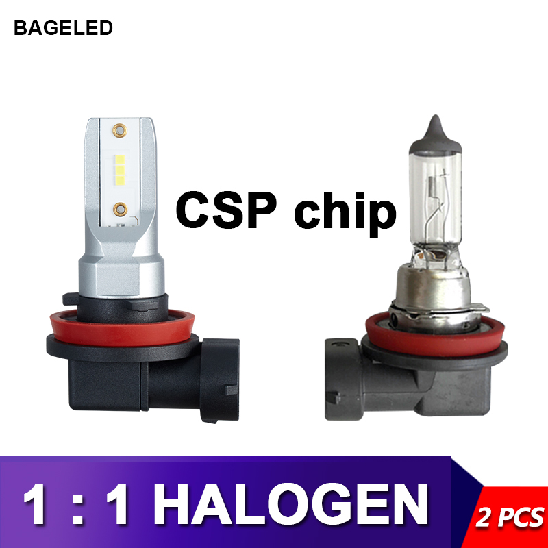 BAGE светодиодный H11 Светодиодный H4 H7 h10 9005 9006 HB4 HB3 автомобильный CSP светодиодный противотуманный фонарь фары лампы DC12-24V 20000LM 6000K белая Автомоби...