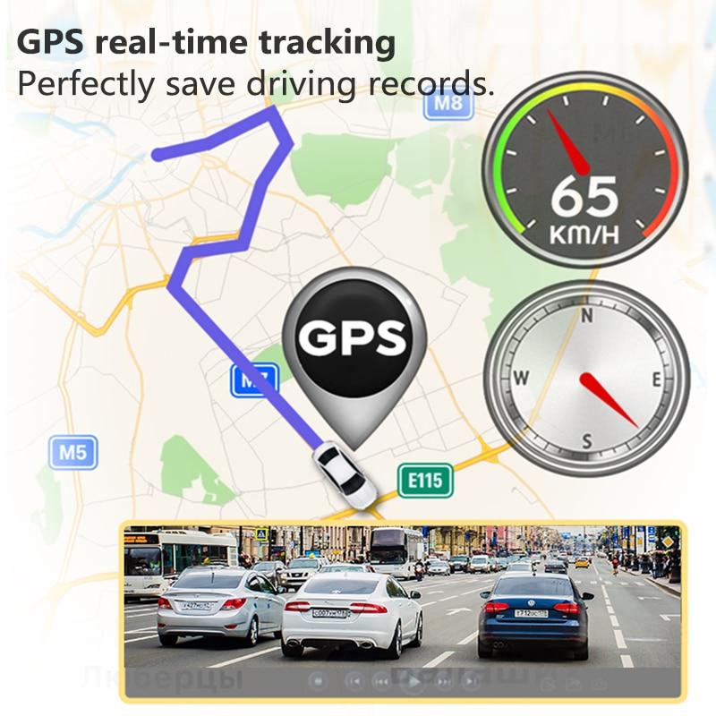 VVCAR-V17 12-inch RearView Mirror Car Dvr Camera Dashcam GPS FHD Dual 1080P Lens Driving Video Recorder Dash Cam Gift-32G Card 4