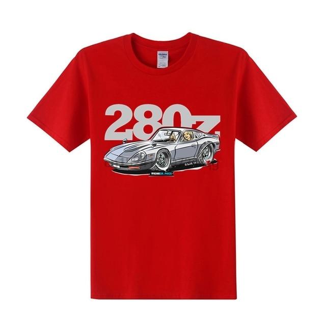 Camisa masculina jdm datsun 280z dos desenhos animados t camisa masculina puro algodão corrida carro t-shirts de manga curta tshirt designer homem engraçado roadster camiseta