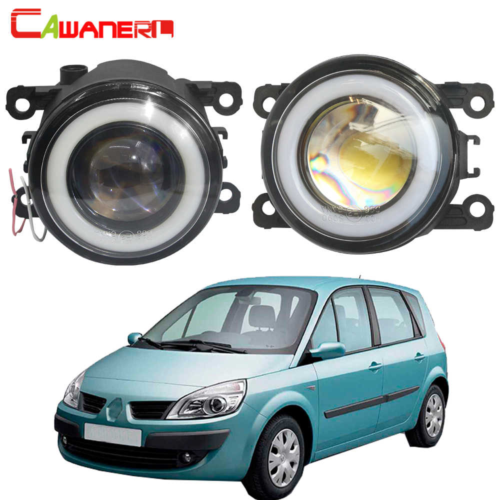 Cawanerl For Renault Scenic II III 2003-2015 Car Styling H11 LED Fog Light 30W COB Angel Eye Daytime Running Light 12V 2 Pieces