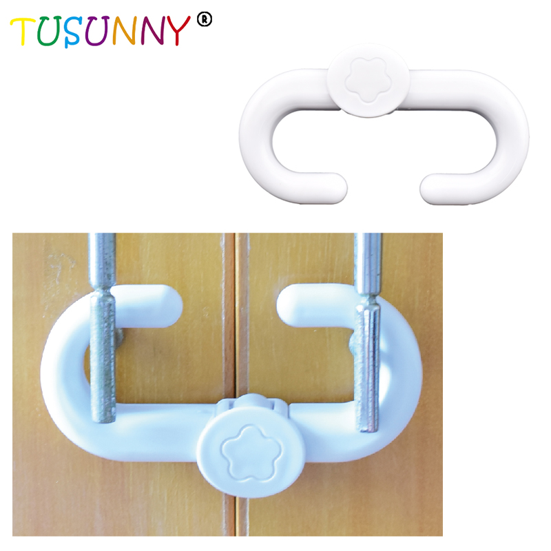 TUSUNNY 1 Pc  Plastic ABS Baby Safety Lock  ABS Safety Lock For Children  Protection Safety In Cabinet
