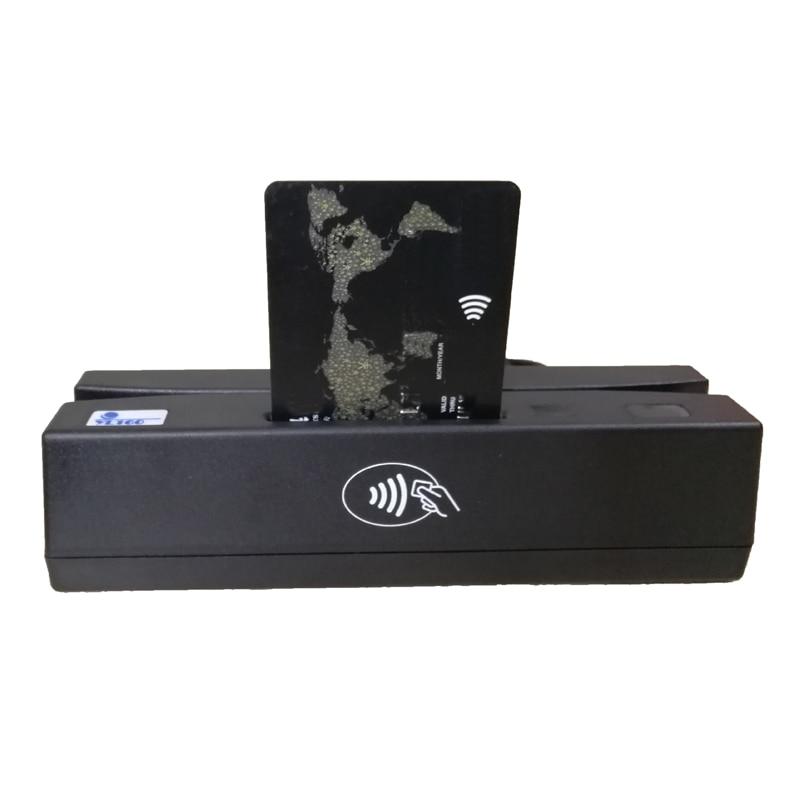 YL160 4-en-1 lecteur de cartes multiples lecteurs de cartes de crédit à bande magnétique EMV IC puce RFID PSAM lecteur écrivain accessoires de cartes mémoire - 2