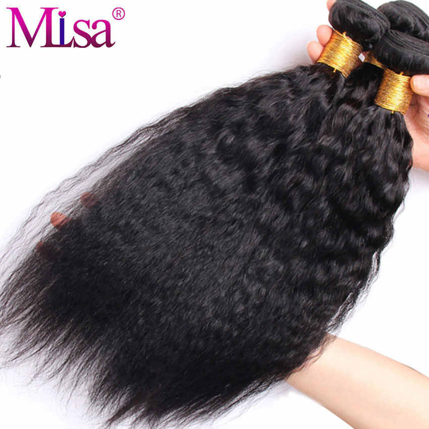 Mi Lisa brazylijski perwersyjne proste włosy pakiet 1/3/4 zestawy 8-28 Cal 100 doczepy z ludzkich włosów Yaki Remy włosy darmowa wysyłka