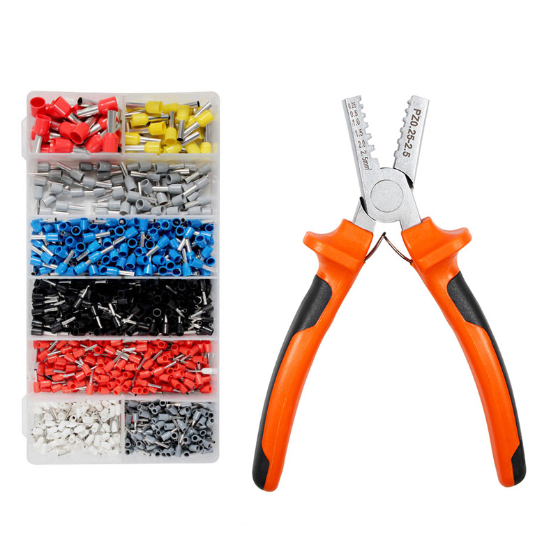 0 25 16 german style small crimping pliers for Cable End Sleeves Special tube clamp Ferrule Hand Tool Pliers 1200 Terminals Kit in Pliers from Tools
