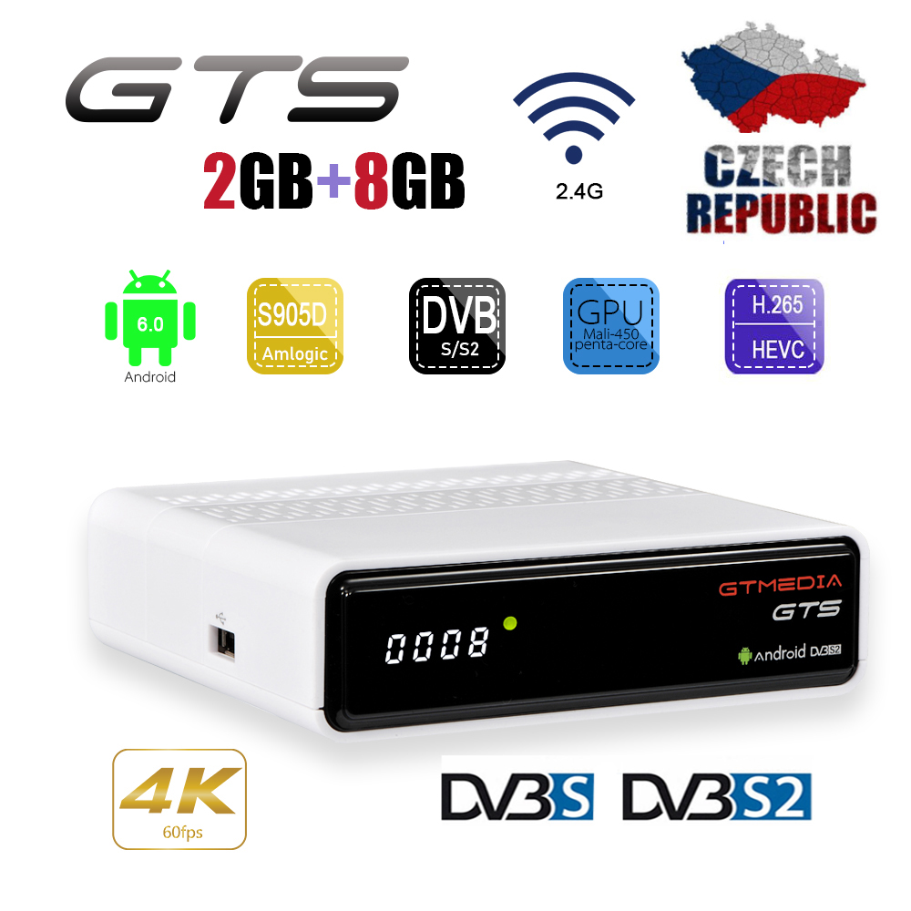 GTMEDIA GTS Android <font><b>TV</b></font> Box Android 6.0 4K HD 3D 2.4G WiFi S905D Quad Core Media Player <font><b>smart</b></font> <font><b>tv</b></font> android <font><b>tv</b></font> box 2GB 8GB <font><b>Smart</b></font> BOX image