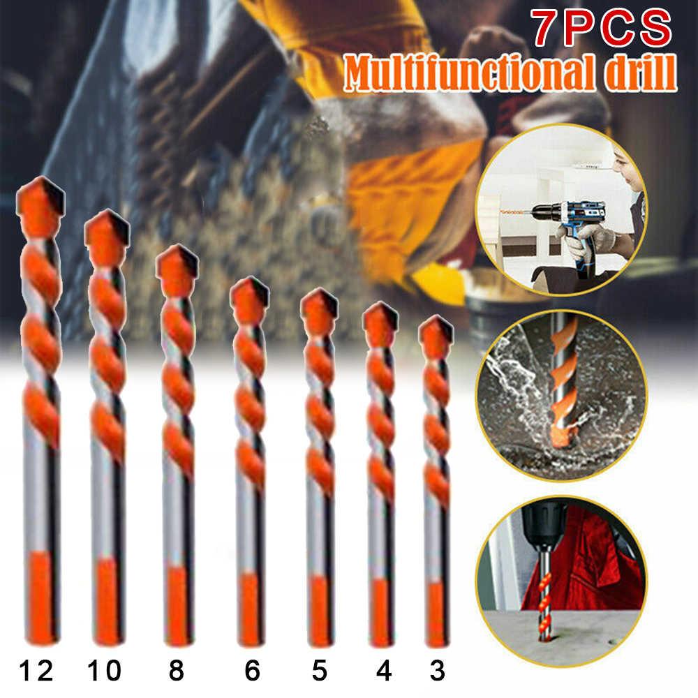5//7PCS//set Triangular Handle Drill Bits Multifunction Ceramic Metal Bit 3-12mm