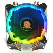 Rainbow D400P CPU Cooler Multi Platform/Dukungan AM4/4 Pipa Panas/LED RGB Fan/Bisu /Kontrol Suhu Cerdas(China)