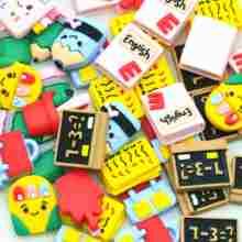 Resina de volta à escola papelaria scrapbook enfeites miniaturas   escola festa decoração artesanato   voltar para a escola presentes