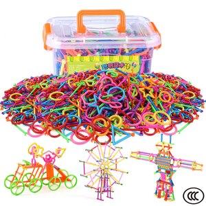 Magic wands Colorful 4D Building Blocks Plastic Splice Assembled Blocks Funny Development Educational DIY Toys for kids gifts