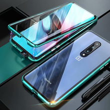 Luxury Magnetic Metal Case voor for Oneplus 7 Pro Front Back Double Glass Screen protection OnePlus7pro Oneplus7 360 Full Cover