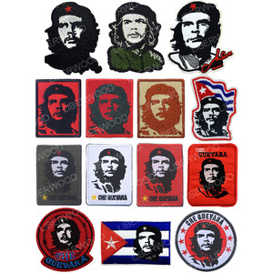 Ernesto Che Guevara Cuba Cuban Revolution Leader Embroidered patch badge Military Jacket T-shirt Patch iron on Vintage Applique(China)
