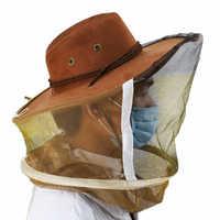 1 * składane wentylowane pszczelarstwo pszczelarstwo maska ochronna Denim + czapka z daszkiem