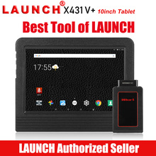 Launch X431 V+ Bluetooth / WIFI Full System Car Diagnostic Scan tool OBDII Android ScanPad Multi-Language Free Online Update 2018 original xtool ps2 gds gasoline version professional car diagnostic tool ps2 gds free update online without plastic box