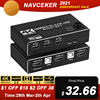 Navceker KVM HDMI Switch Dual Monitor 2 In 1 Out DP KVM Switch 2 Ports 4K 60Hz HDMI KVM Switch Share Printer Keyboard Mouse 1080