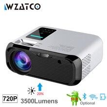 WZATCO E500 720P HD 1280*800 3500Lumens HDMI Nhà Theatre Android 10.0 Tùy Chọn Máy Chiếu WIFI Beamer màn Hình LCD Proyector