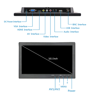 Image 2 - 10.1 inch 1366x768 Portable Monitor with VGA HDMI BNC USB input for PS3/PS4 XBOX360 Raspberry Pi Windows 7 8 10 System