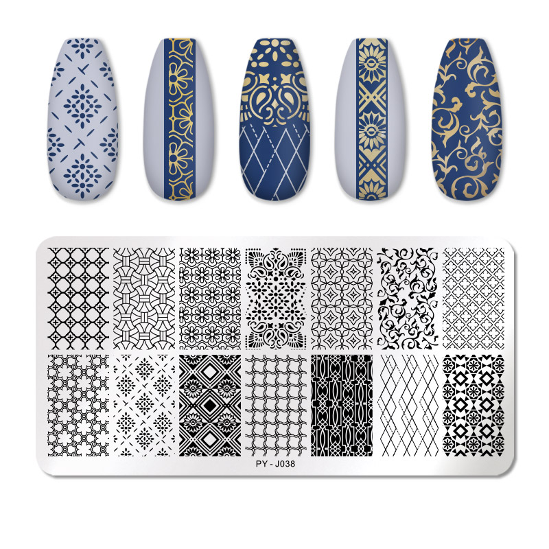 PICT YOU 12*6cm Nail Art Templates Stamping Plate Design Flower Animal Glass Temperature Lace Stamp Templates Plates Image 70