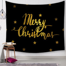 Christmas Tapestry Black Christmas Pattern Tapestry Home Decorative Tapete Bedroom Blanket Table Cloth Yoga Mat