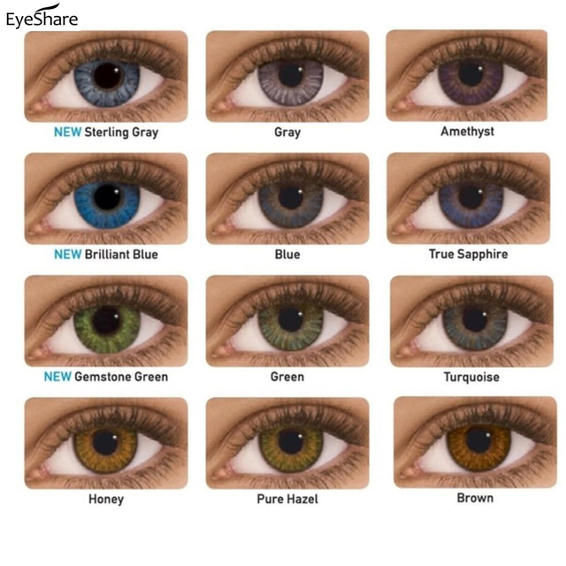 EYESHARE- 2pcs/pair 3 Tone Series Colored Contact Lenses  for eyes  Colored Eye Lenses Color Contacts