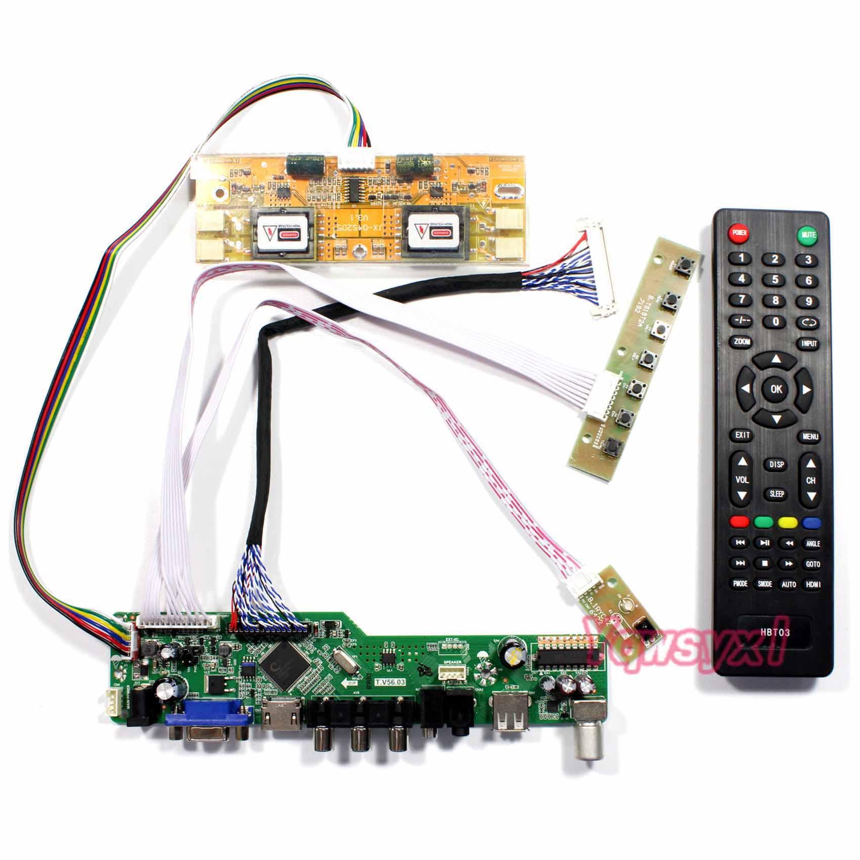 Yqwsyxl Kit For M215HW01 V.0 V0  TV+HDMI+VGA+AV+USB LCD LED Screen Controller Driver Board