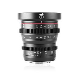 Meike MK 16mm T2.2 ręczna ostrość asferyczny portret Cine obiektyw dla mikro cztery trzecie (MFT  M4/3) mocowanie Olympus Panasonic