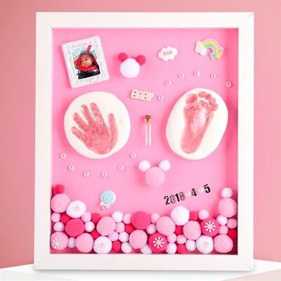 3D Baby Souvenir Set Handprint Footprint Soft Clay Photo Frame Newborn Exquisite Decorations Ornament Print Keepsake Baby Care