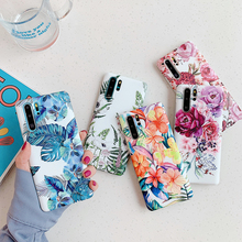 Luxury Vintage Flower Banana Leaf Phone Case For Hu